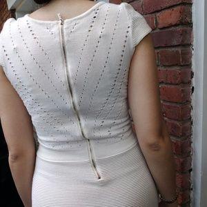 bebe Dresses - Ivory Square Top Bebe Mini Dress